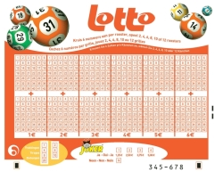 vue du ticket de lotto Belge