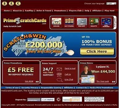 Primescratchcard
