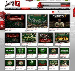 Lucky31 jeux de table