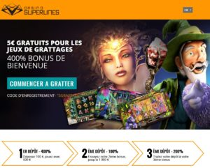 superlines jeux de grattage et casino