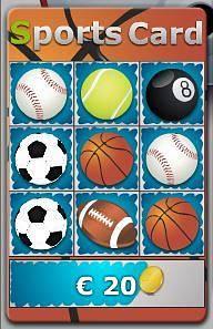 Jeu de grattage Sports Card
