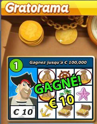gain de 10 € Pirates-Scratch