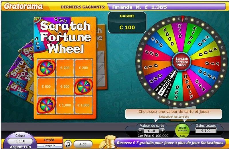 Gain de 100€ a la roue de la fortune