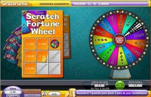jeux de grattage la roue de la fortune