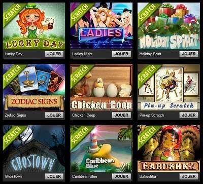 carte à gratter de casino triomphe