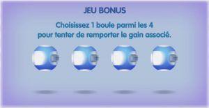 Tirage du jeu bonus de l'Instant Loto