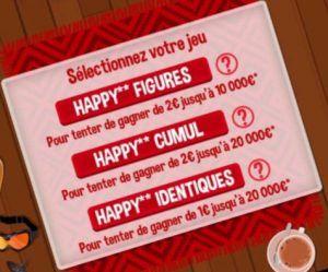 Choisir la formule de jeux sur Happy Dés