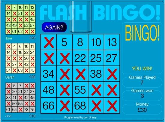 Gagnant au Bingo avec une diagonale