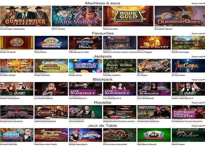 Trouvez les meilleurs jeux de casino